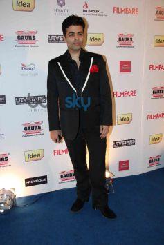 Karan Johar during Filmfare Awards Nominations Party 2014