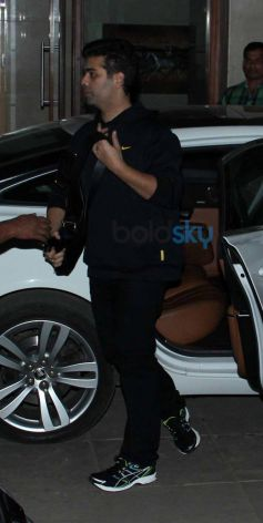 Karan Johar snapped at Aamir Khan's Residence