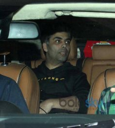 Karan Johar snapped in his car at Aamir Khan's Residence