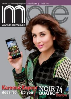 Kareena Kapoor on the cover of More JAN 2014