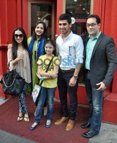 Kashvee R Barjatya with her parents Rajat and Neha Barjatya and  sameer and ritika dattani at launch