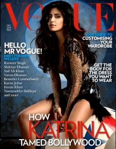 Katrina Kaif on the cover of Vogue December 2013 issue