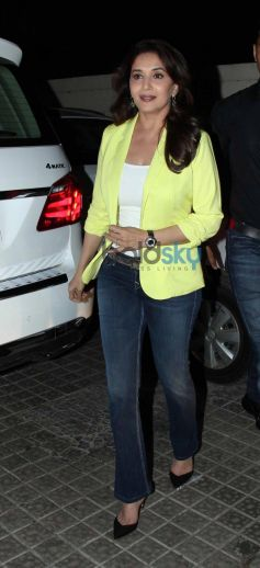Madhuri Dixit during arrival for Dedh Ishqiya Promtion