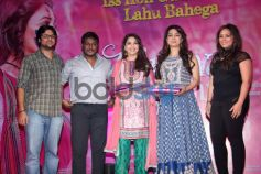 Madhuri Dixit and Juhi Chawla stuns during Gulaab Gang Press Conference