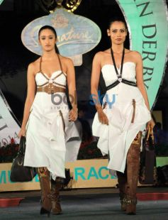 Model ramp walk during Signature Derby Draw
