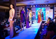 Models ramp at Signature Fashion Party at Lucknow