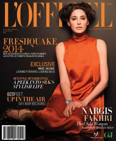 Nargis Fakhri on the cover of L'Officiel JAN 2014