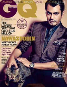 Nawazuddin Siddiqui on the cover of GQ Dec 2013 issue