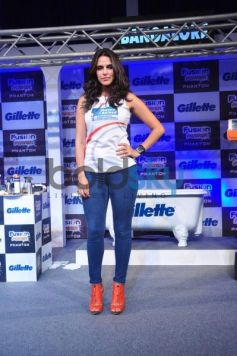 Neha Dhupia at Gillette Launch Fusion Power Phantom