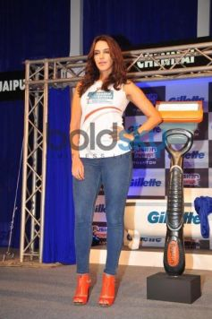 Neha Dhupia at Gillette Launch Fusion Power Phantom