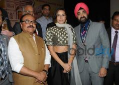 Neha Dhupia at the inaugration of India International Trade & Tourism Exhibition 2014
