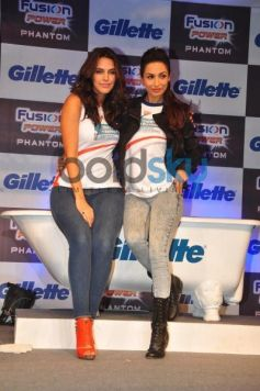 Neha Dhupia with Malaika at Gillette Launch Fusion Power Phantom