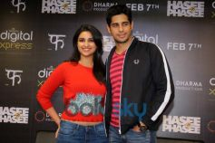 Parineeti Chopra with Siddharth Malhotra during Hasee Toh Phase mobile app launch