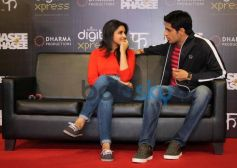 Parineeti Chopra with Siddharth Malhotra at mobile app launch