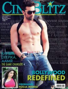 Rabir Kapoor on the cover of CineBlitz JAN 2014