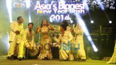 Rakhi Sawant dance at Country Club New Year Bash 2014