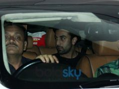 Ranbir Kapoor snapped in his car at Aamir Khan's Residence