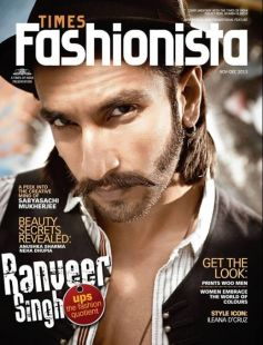 Ranveer Singh on the cover of Times Fashionista Dec 2013