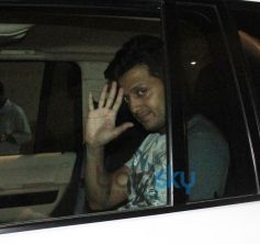 Riteish Deshmukh snapped in car at Mehbob Studio