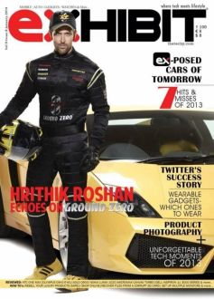 rithik Roshan on the cover of Exhibit magazine January 2014