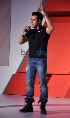 Salman Khan address media during launches Audi RS 7 Sportback luxury car