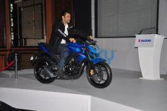 Salman Khan ridding Suzuki bike during launch