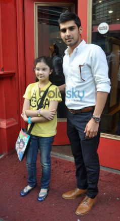 Sameer Dattani with kid at Lost in the Woods book launch