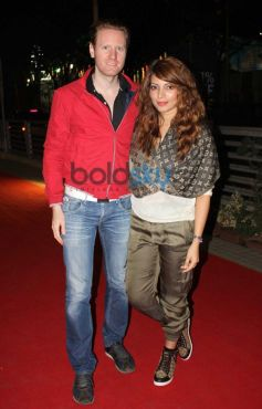 Shama Sikander with her boyfriend Alexx O'Nell during the premiere of Mandela Long Walk to Freedom