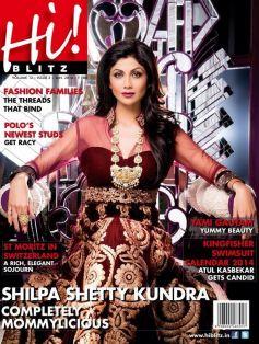 Shilpa Shetty on the cover of Hi Blitz JAN 2014