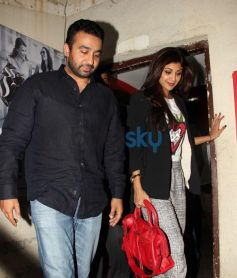 Shilpa with Raj Kundra snapped at PVR