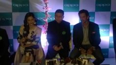 Sonam Kapoor and Hrithik Roshan during OPPO mobile launch