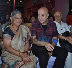 Sudha Murthy and Anupam Kher during Launch