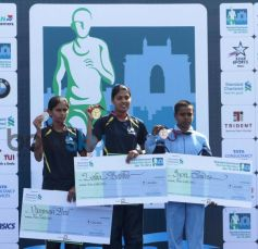 Winner during Standard Chartered Mumbai Marathon