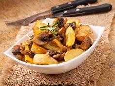 Yummy Mushroom Aloo Fry Recipe