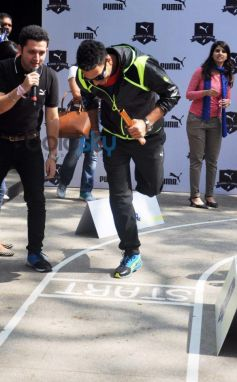 Yuvi during PUMA Relay Running Property for Students launch