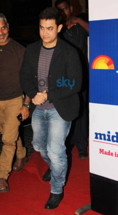 Aamir Khan at Mid Day relaunch party