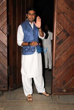 Abhishek Bachchan snapped during Birthday Bash