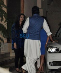 Aishwariya Rai Bachchan snapped during Abhishek Bachchan 38th Birthday Bash