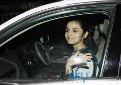 Alia Bhatt snapped during Highway Special Screening