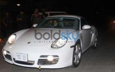 Amitabh Bachchan in porsche car at Gunday Special Screening