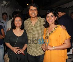 Divya, Nagesh, Sonali during Priyanka Sinha's book launch