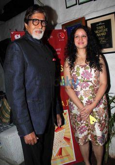 Amitabh Bachchan with Priyanka Sinha during launch