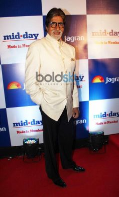 Amitabh Bachchan at Mid Day relaunch party