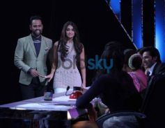 Andy, Ileana during India's Got Talent show