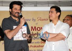 Anil Kapoor and Aamir Khan during launch of book Sagar Movietone