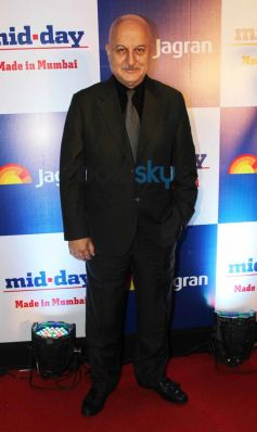 Anupam Kher at Mid Day relaunch party