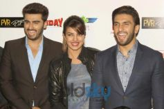 Arjun Priyanka Ranveer stuns during Gunday Promotional Event