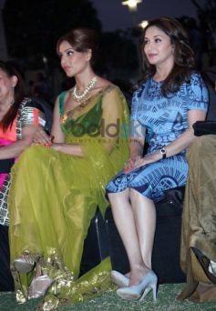 Bipasha Basu and Maduri Dixit during IIFA press conference