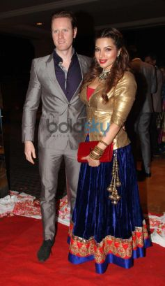 Shama Sikander with Alex stuns at Siddarth Kannan Wedding Reception