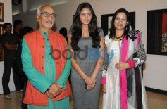 Celebs with Raosaheb Gurav during exibition